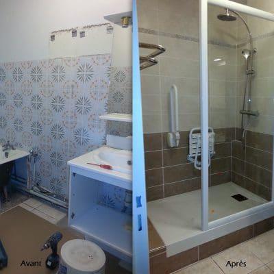 Création de douche à l'italienne