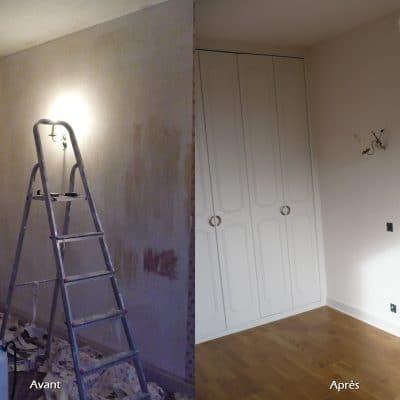 Rénovation d'appartement complet, peintures, papiers peint et parquet